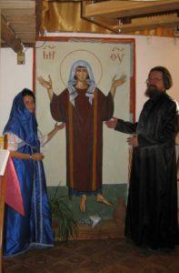 Taras Sidash et son épouse Sophia Sapojnikova