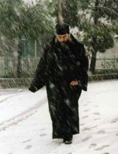 Métropolite Athanasios dans la neige