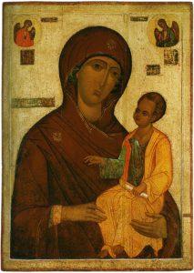 Mère de Dieu Odigitria. Premier tiers du 16e siècle.
